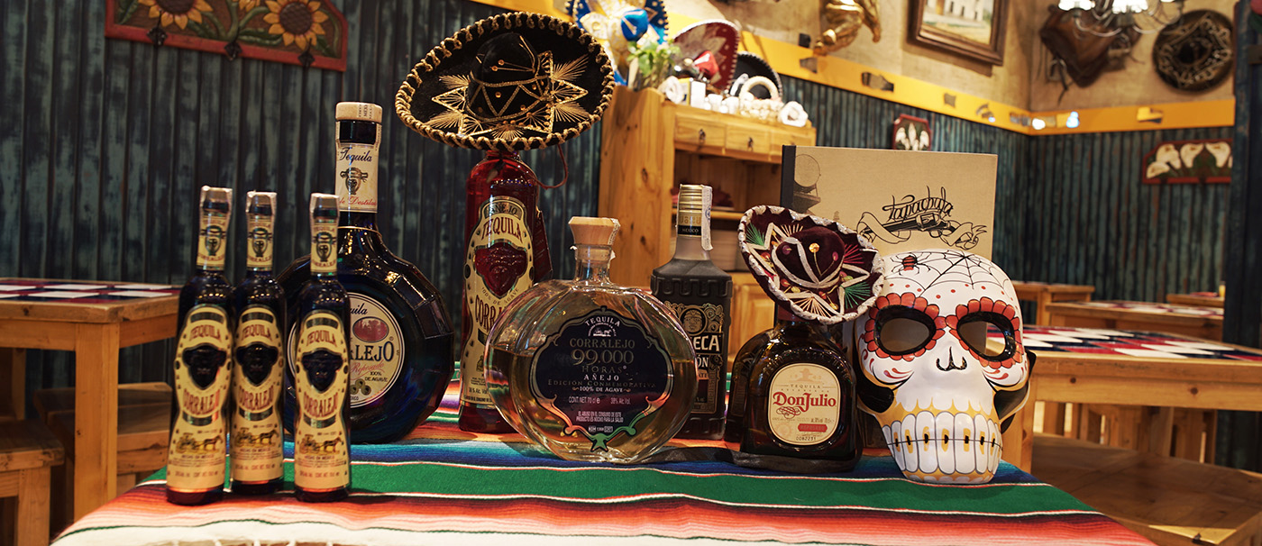 Tequilas, Mezcales y licor